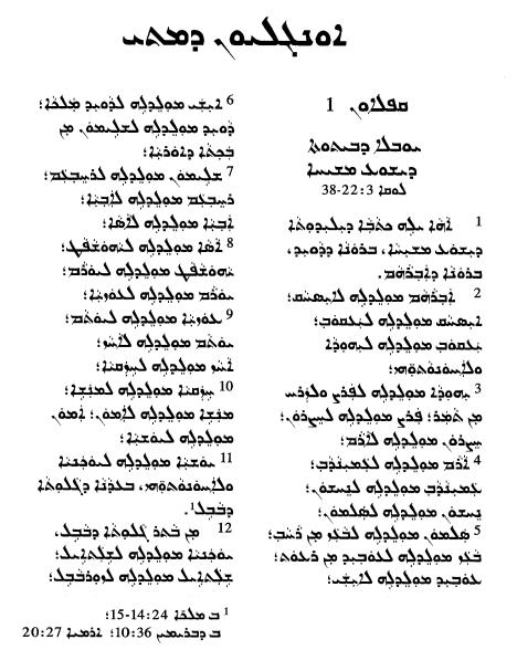 The Bible In Assyrian Neo Aramaic