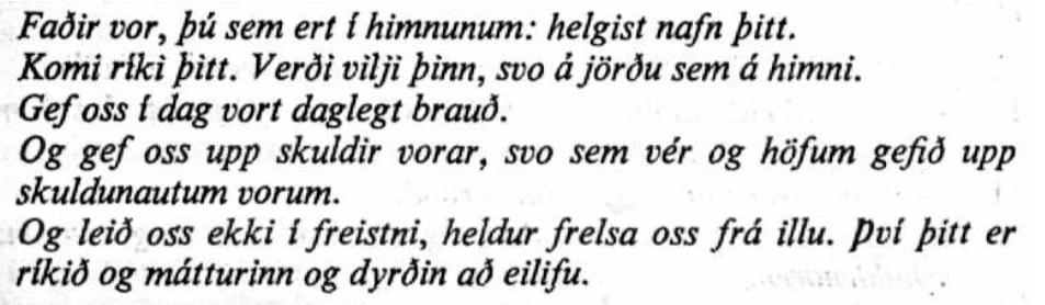 Поздравления на исландском языке