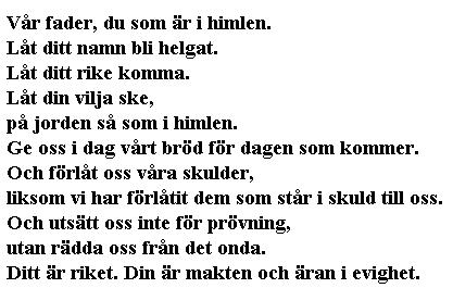 The Bible in Swedish