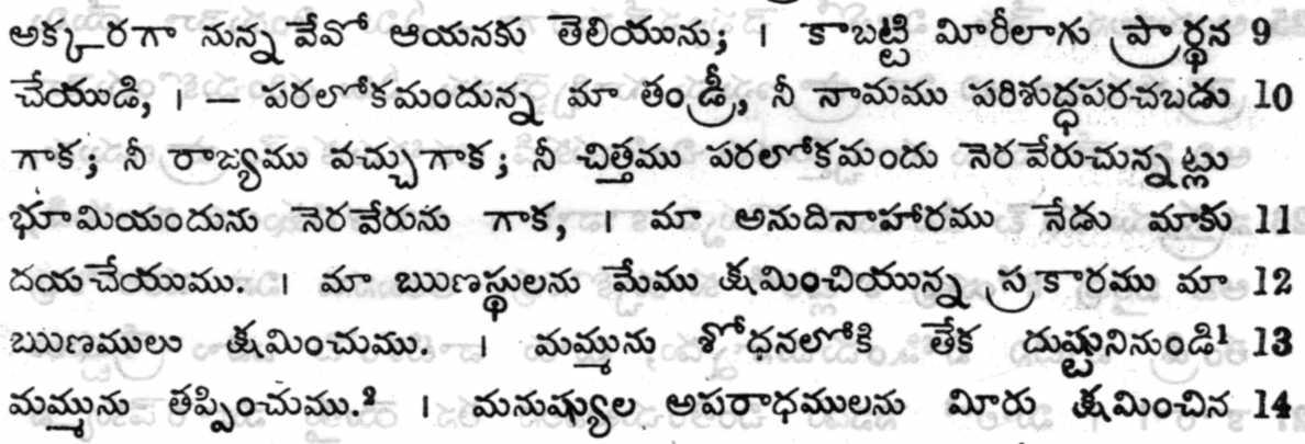 The Bible in Telugu